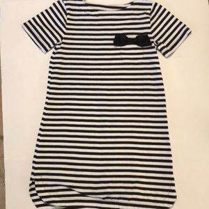 Kate Spade dress stripes ribbon short sleeves 10